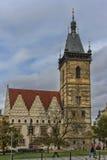 新市镇霍尔-第二个旧市政厅在布拉格 免版税图库摄影