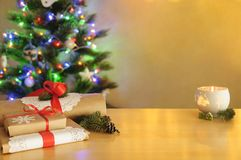 新年与空白02的` s卡片 库存照片