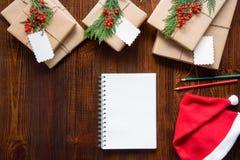 新年假日概念的准备 免版税库存图片