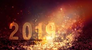 新年发光的抽象背景 库存照片