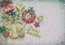 新年和圣诞快乐冬天 库存照片