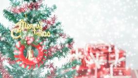 新年和圣诞快乐冬天 免版税库存照片