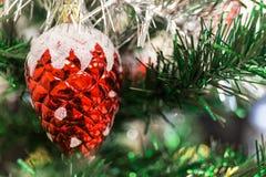 新年和圣诞树背景 图库摄影