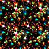 新年和圣诞灯无缝的照片纹理  免版税库存图片