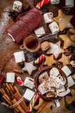 新年和圣诞节甜点 免版税库存图片