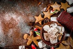 新年和圣诞节甜点 库存图片