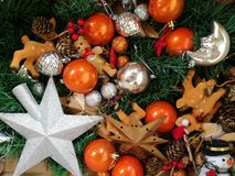 新年圣诞树装饰 库存图片