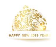新年好卡片 库存图片