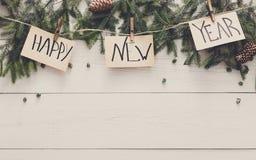 新年好装饰、装饰品和诗歌选构筑背景 库存图片