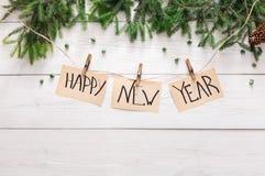 新年好装饰、装饰品和诗歌选构筑背景 库存照片
