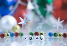 新年好,爱! 免版税库存照片