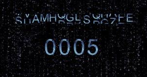 新年好2018年读秒 蓝色 向量例证