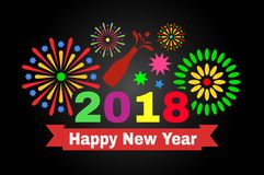 新年好2018年 库存图片