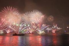 新年庆祝在香港2018年 库存图片