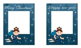 新年度和圣诞卡 库存例证