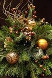 新年度和圣诞节静物画 免版税库存图片