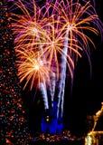 新年度在Disneyworld的庆祝 库存照片