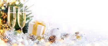 新年度庆祝用香槟 图库摄影