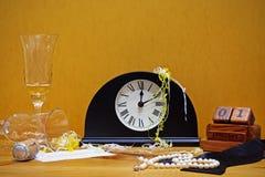 新年度当事人静物画 免版税库存图片