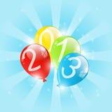 新年度气球 库存例证