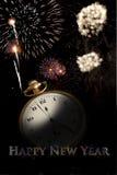 新年度海报 免版税库存照片