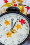 新年度的时钟 免版税图库摄影