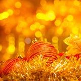 新年度装饰静物画 免版税库存照片