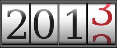 新年度计数器 免版税库存照片