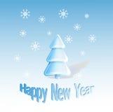 新年度贺卡 免版税库存照片