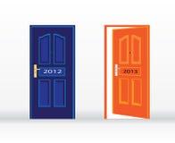 新年度门 库存图片