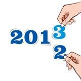 新年度问候 库存照片