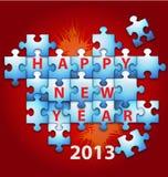 新年度难题背景 免版税库存照片