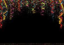 新年快乐五颜六色的五彩纸屑背景 库存照片