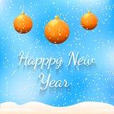新年快乐五颜六色的贺卡 库存照片