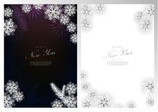 新年快乐冬天装饰背景卡片模板传染媒介 向量例证