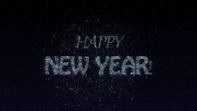 新年快乐动画 库存例证