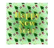 新年快乐卡片  向量例证