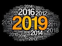 2019新年快乐和往年 库存图片