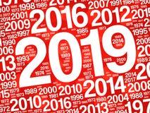 2019新年快乐和往年 图库摄影