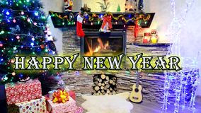 新年快乐和Meryy圣诞节2019年 皇族释放例证