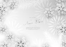 新年快乐白色冬天docoration背景模板vecto 向量例证