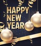 新年快乐的传染媒介例证 免版税库存照片