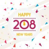 新年快乐贺卡或背景的抽象例证 库存照片