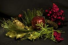 新年快乐,圣诞快乐,圣诞节构成 免版税库存图片