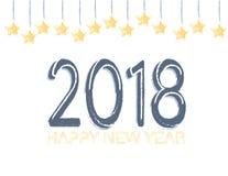 新年快乐2018年横幅 库存图片