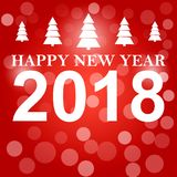 新年快乐2018年背景装饰 贺卡设计模板2018年五彩纸屑 日期的传染媒介例证2018年 免版税库存照片