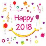 新年快乐2018年-传染媒介 免版税库存照片