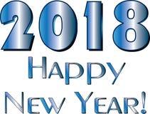 新年快乐2018镀铬物 免版税图库摄影