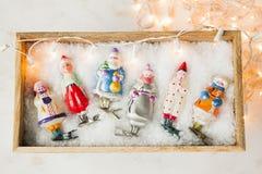 新年或圣诞节明信片概念 库存图片