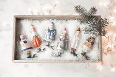 新年或圣诞节明信片概念 免版税库存图片